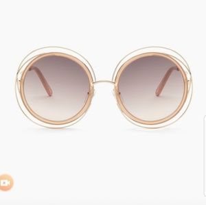 Chloe Carlina Nude sunglasses